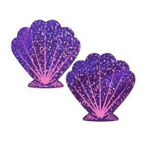 Resuable Nipple Pasties Sea Shell Mermaid Glitter